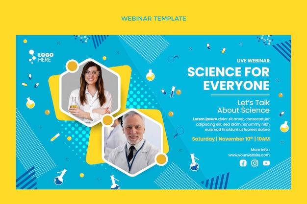 Flache design-wissenschafts-webinar-vorlage