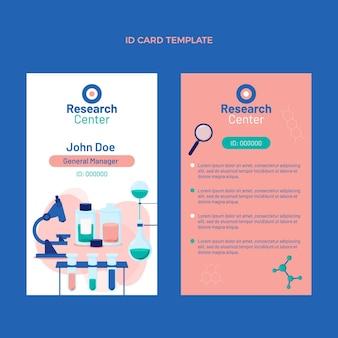 Flache design-wissenschaftsausweisvorlage