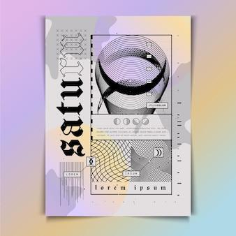 Flache design y2k plakatschablone