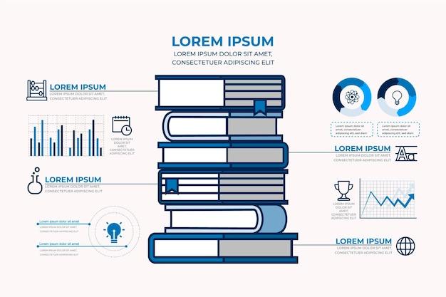 Flache designbuch infografiken