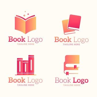 Flache designbuchlogosammlung