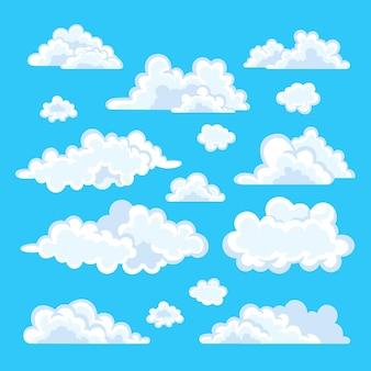 Flache designillustration der wolkensammlung