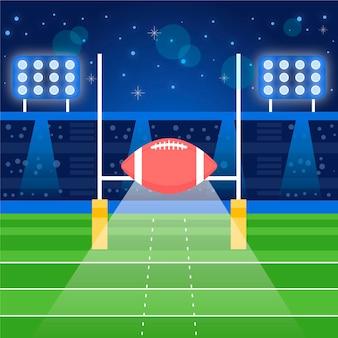 Flache designillustration des amerikanischen fußballs