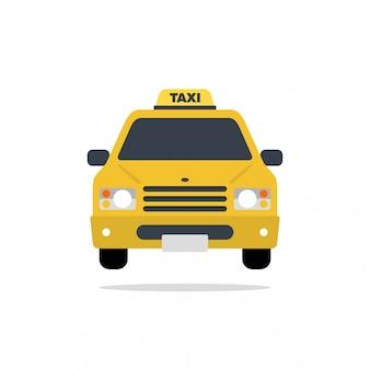 Flache designillustration des taxiauto-vektors