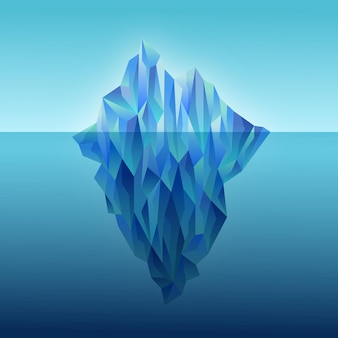 Flache designillustration eisberg