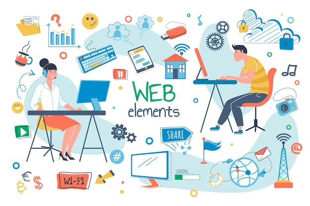 Flache designkonzeptillustration der online-medizin