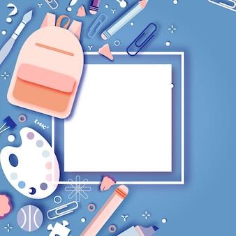 Flache designvektorillustrationskonzepte der bildung. horizontale banner mit aufklebern für wissenschaft und kunst.