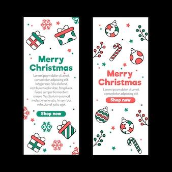Flache designweihnachtsverkaufs-fahnenschablone