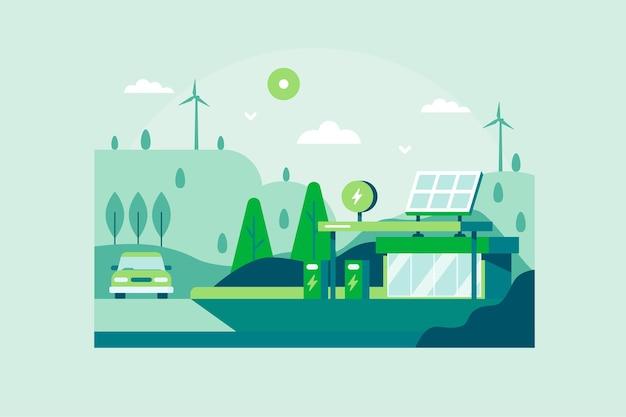 Flache designweltlebensraumtageslandschaft