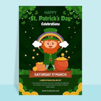 Flache detaillierte st. patrick's day flyer