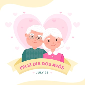 Flache dia dos avos illustration