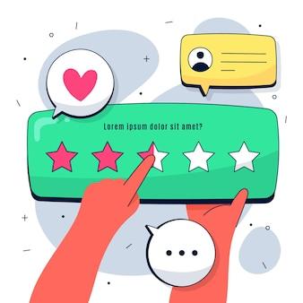 Flache, die feedback-konzeptvorlage gibt