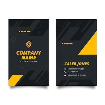 Flache doppelseitige visitenkartenvorlage für fitness