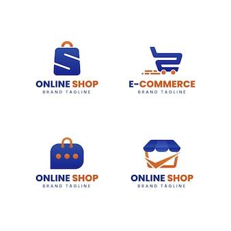 Flache e-commerce-logosammlung