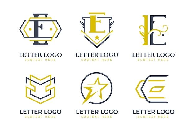 Flache e logo-schablonensammlung