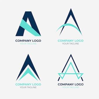 Flache eine logo-vorlagensammlung