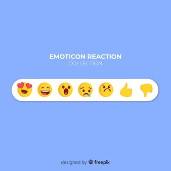 Flache emoticon-reaktion-sammlung