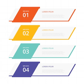 Flache fahnen infografisch