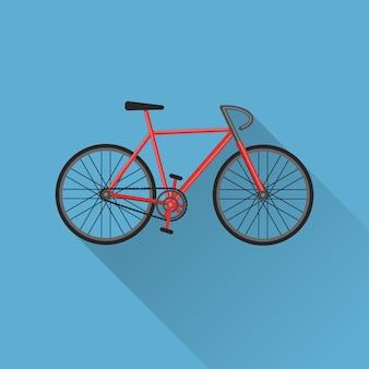 Flache fahrradsymbol