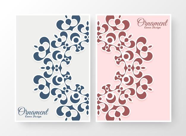 Flache farbmandala-cover-kollektion