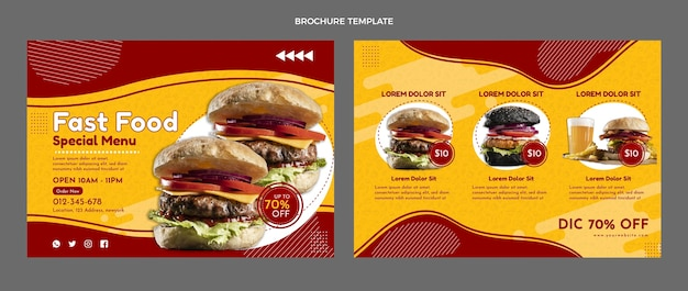 Flache fast-food-broschüre
