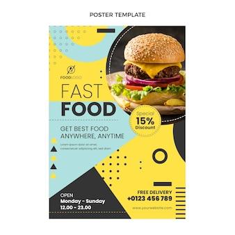Flache fast-food-plakatvorlage