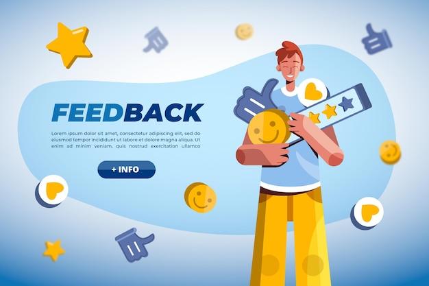 Flache feedback-konzeptvorlage