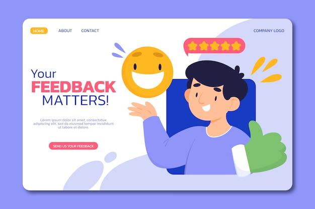 Flache feedback-landingpage
