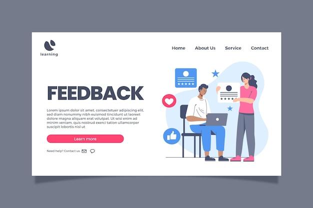 Flache feedback-webvorlage