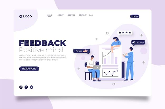 Flache feedback-zielseitenvorlage