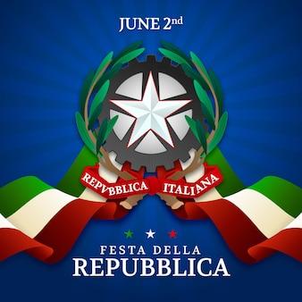 Flache festa della repubblica illustration