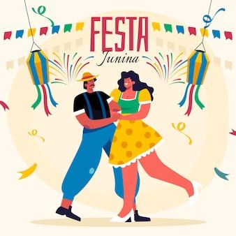 Flache festa junina illustration