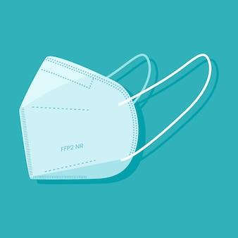 Flache ffp2 gesichtsmaske