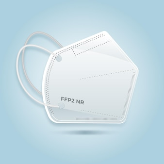 Flache ffp2 gesichtsmaskenillustration