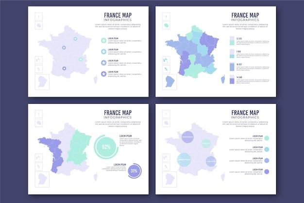 Flache frankreich karte infografik