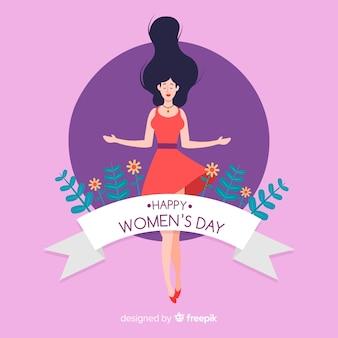 Flache Frauen Tag Hintergrund