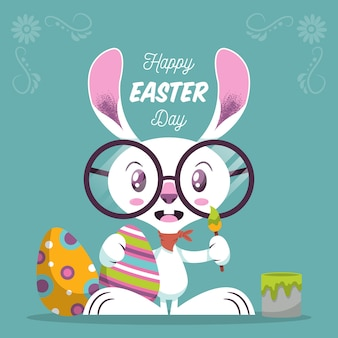 Flache frohe ostern