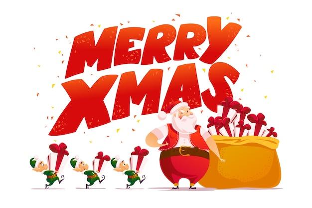 Flache frohe weihnachten und frohes neues jahr illustration