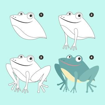 Flache froschzeichnung illustration