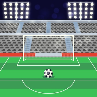 Flache fußballfußballstadionillustration