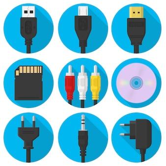 Flache gadgets in kreisen gesetzt