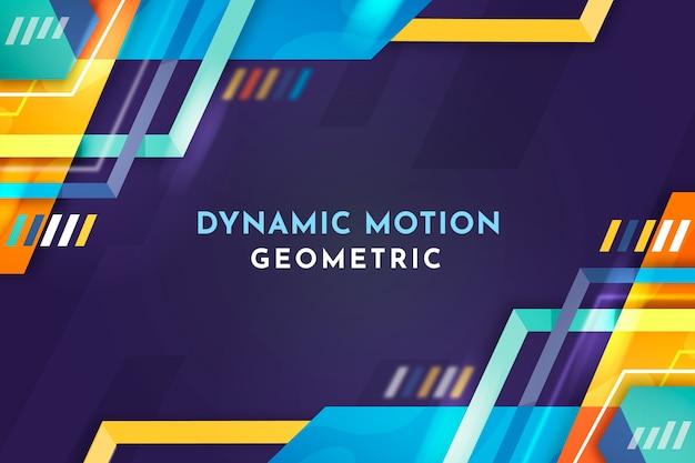 Flache geometrische formen hintergrund