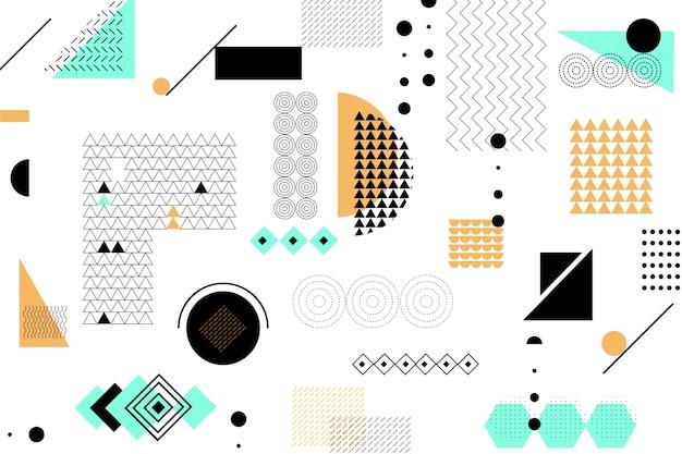 Flache geometrische modelle hintergrund