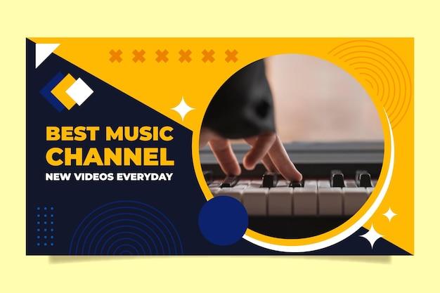 Flache geometrische musik youtube thumbnail