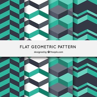 Flache geometrische muster hintergrund