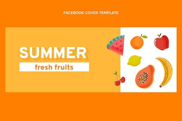Flache gesunde früchte facebook-cover
