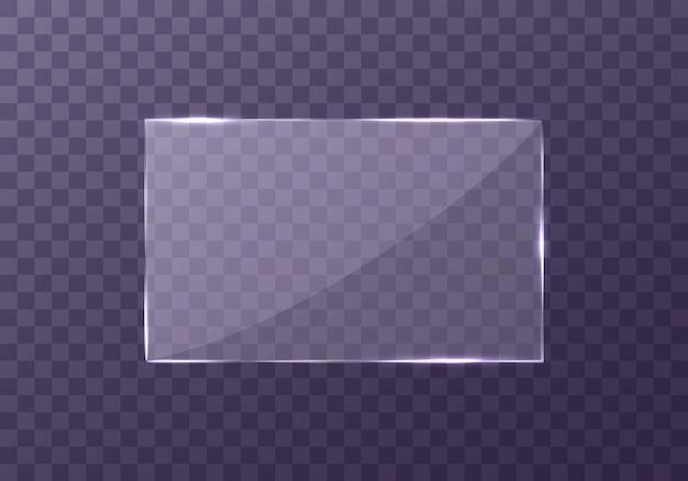 Flache glasplatte