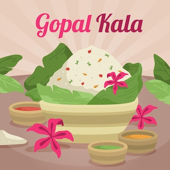 Flache gopalkala-abbildung