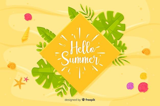 Flache hallo sommer hintergrund