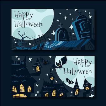 Flache halloween-banner
